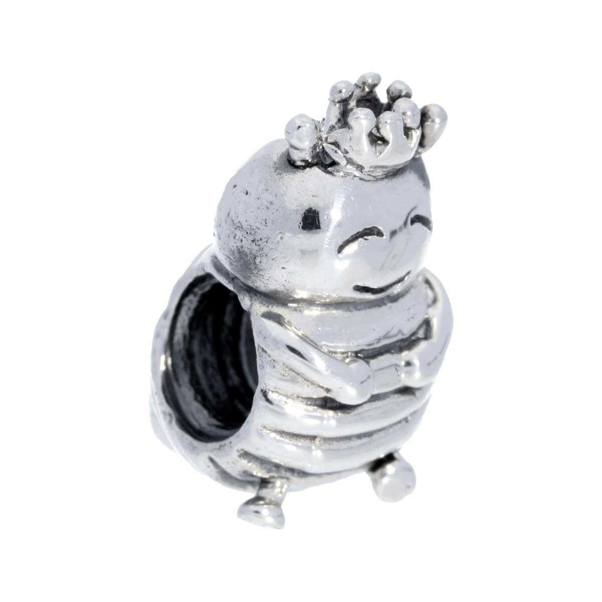 Sterling Silver King Caterpillar Bead Charm