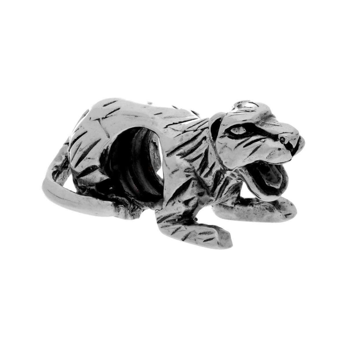 Sterling Silver Tiger Bead Charm