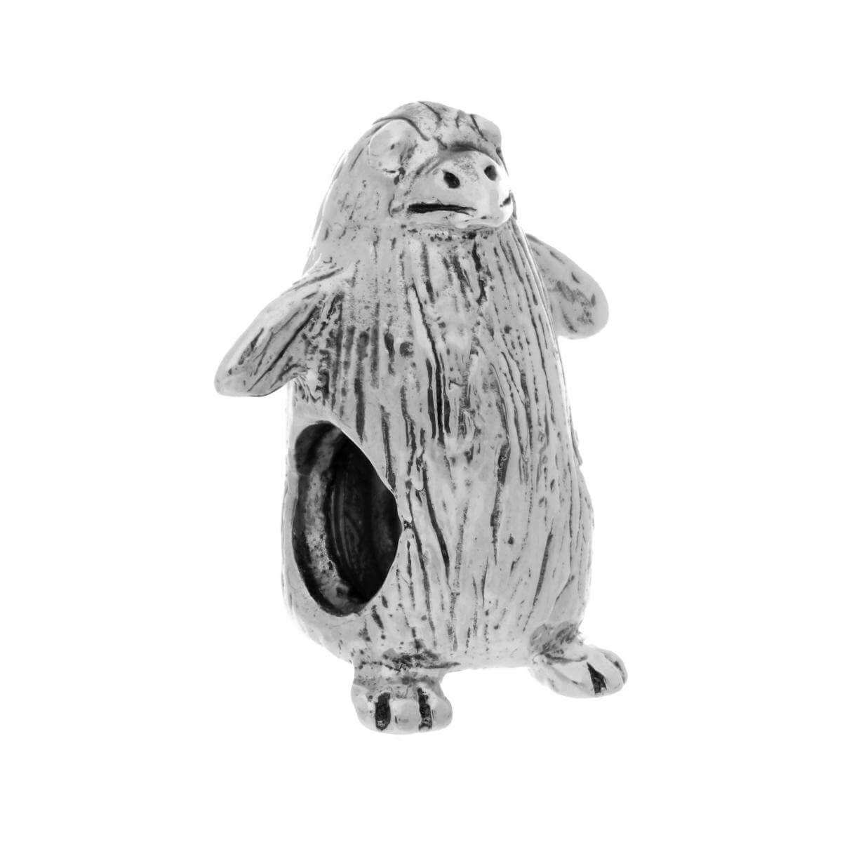 Sterling Silver Penguin Bead Charm