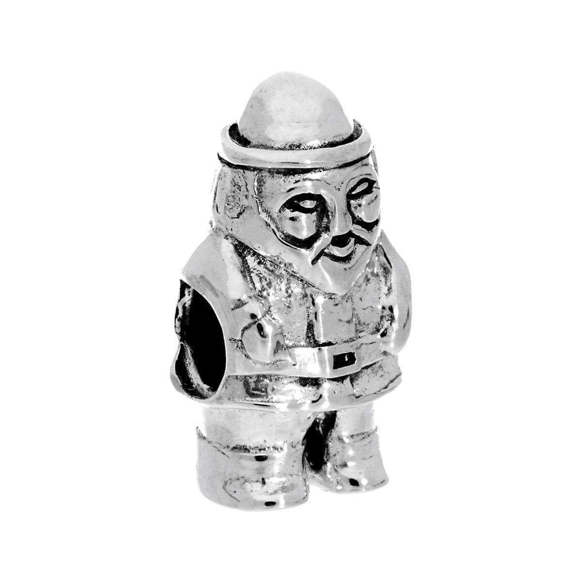 Sterling Silver Santa Claus Bead Charm
