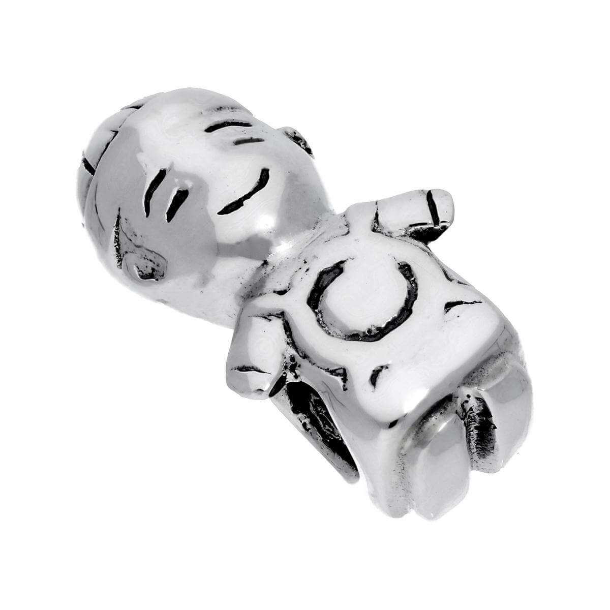Sterling Silver Little Boy Bead Charm