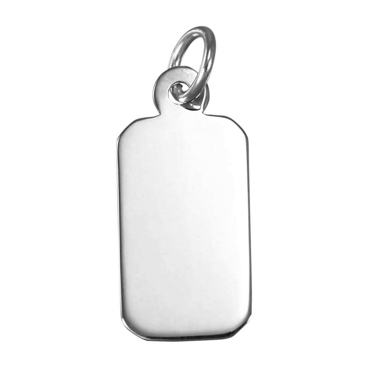 Sterling Silver Engravable Rectangular Pendant