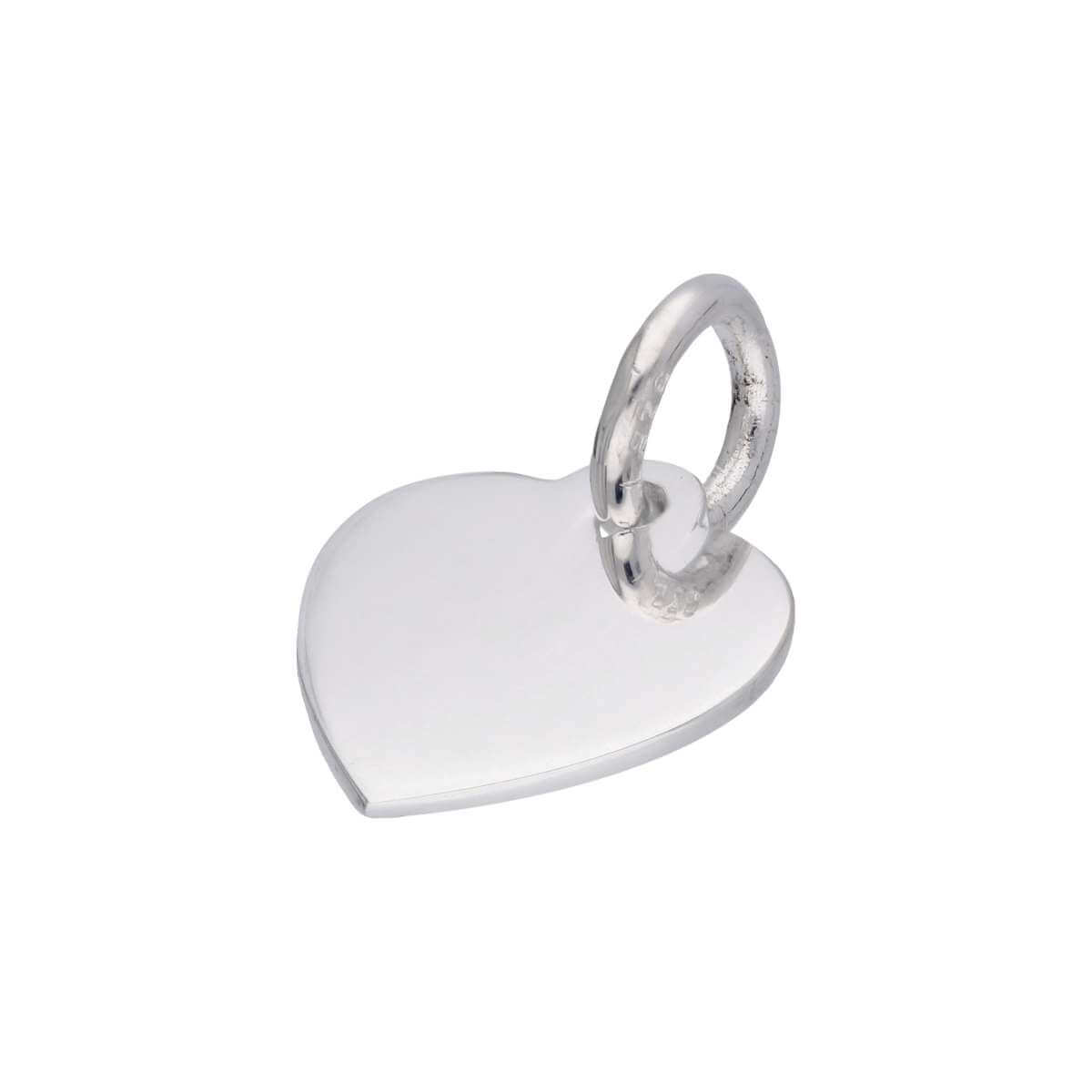 Sterling Silver Small Engravable Heart Pendant