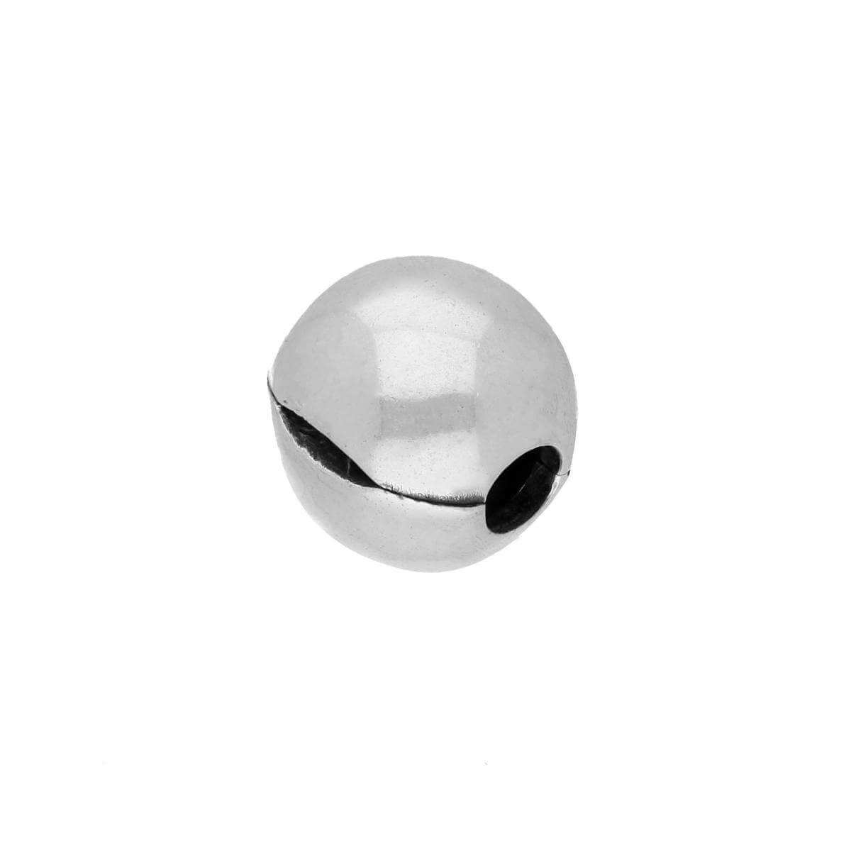 Sterling Silver Round Bead Charm